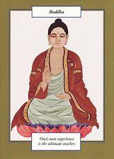 GREETING CARD spiritual art BUDDHA Saints and Sages gold border