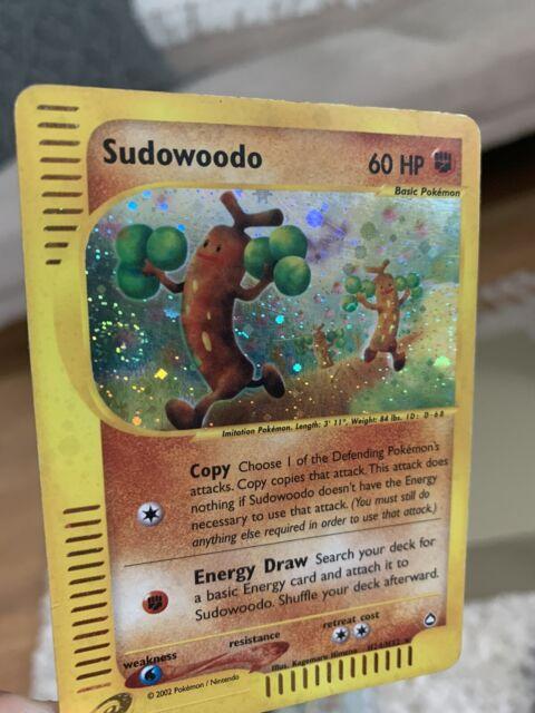 Holo Sudowoodo Aquapolis Set H24/H32 Rare Pokémon Skyridge LP PSA WOTC