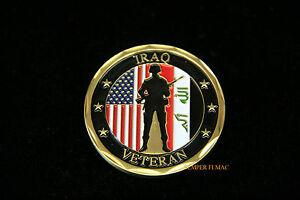 Details about IRAQ WAR CHALLENGE COIN US ARMY MARINES NAVY AIR FORCE  VETERAN PIN UP GIFT WOW