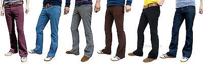 Boot Cut Mens Cords Bootcut Hippy 60s 70s Jeans Retro Vtg Indie Flares Trousers Ausreichende Versorgung