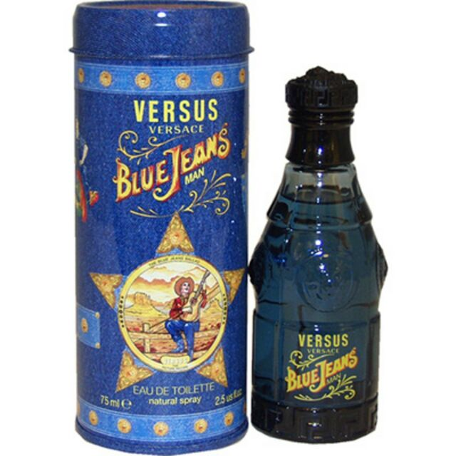 MEN * BLUE JEANS 2.5 oz * by Versus * Versace * Cologne * BRAND NEW IN CAN
