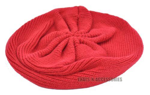 Ladies Winter Knit Crochet Beret Tam Newsboy Baggy Ski Beanie Slouch Fashion Hat