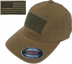 Flexfit Vintage Cotton Tactical Cap Hat w  Patch Area   American ... 48572738424