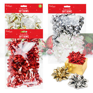 Image Is Loading 2 X Self Adhesive Metallic Gift Bows