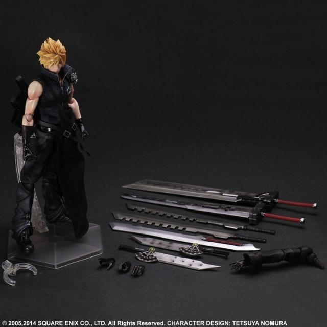 FF7 Juego De Play Arts Kai Final Fantasy VII nube Movible Figura De Acción De Juguete