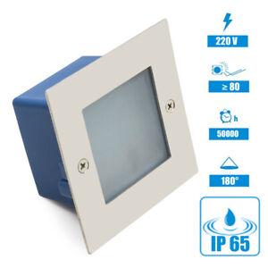 LED-Applique-Murale-Encastree-Niveaux-Escalier-Luminaire-Eclairage-Verre-Depoli