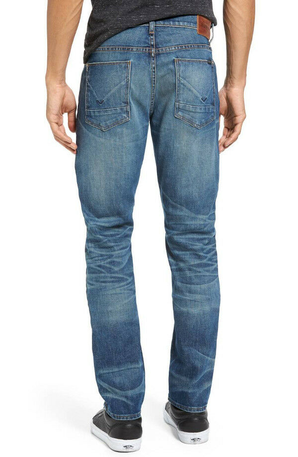 NWT HUDSON Men Blake Slim Fit Straight Leg Jeans Size 32 Withstand Wash  NEW