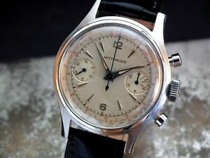Wittnauer Watch Value >> Details About Collector Condition 1950 S 35mm Wittnauer Chronograph 3256 Gents Vintage Watch