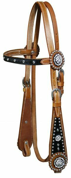 SHOWMAN  WESTERN HORSE BRIDLE HEADSTALL WITH blueE BLING CRYSTALS AND RHINESTONES  discounts and more