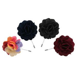Men-039-s-GIFT-Peony-Lapel-Flower-Boutonniere-Stick-Brooch-Pin-Tuxedo-Corsage-Decor