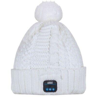 Inverno CON STEREO CAPPELLO Bluetooth Berretto BEANIE August BLUETOOTH CUFFIE EPA30 qwtOff