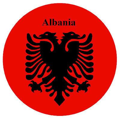 Akachafactory Bandiera bandierina Auto Gagliardetto Nazioni Albania