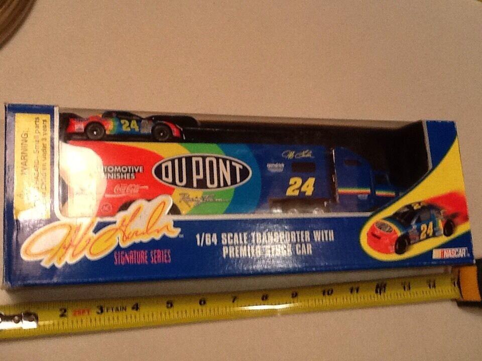 NASCAR Diecast 24 Jeff Gordon DuPont Car Transporter 95 RC Signature 1 64 Series