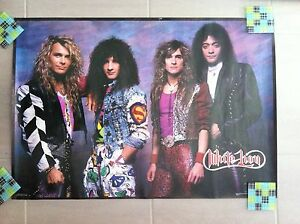 Details about WHITE LION POSTER Color Band Photo VINTAGE Mike Tramp Vito  Bratta GLAM RARE