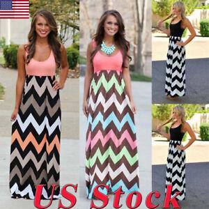 US-Plus-Size-S-5XL-Boho-Women-Maxi-Dress-Sleeveless-Summer-Long-Beach-Sundress