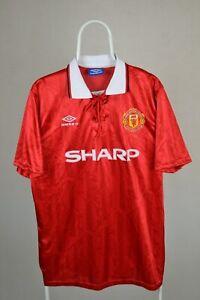 Manchester United 1992 1994 Home Shirt jersey UMBRO riemettere di camicia taglia XL