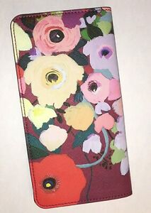 Anthropologie-Picturesque-Florals-Travel-Wallet-KT-Smail-Faux-Leather