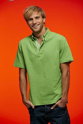 Poloshirt für Herren Shirt mit Karo Einsatz Baumwolle S- 3XL James+Nicholson Neu