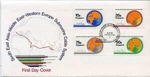 Singapour-1986-sea-me-we-projet-de-cable-illust-FDC