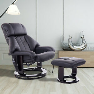 Massage-Recliner-Ottoman-Set-Lounge-Set-10-Vibration-Motor-Black