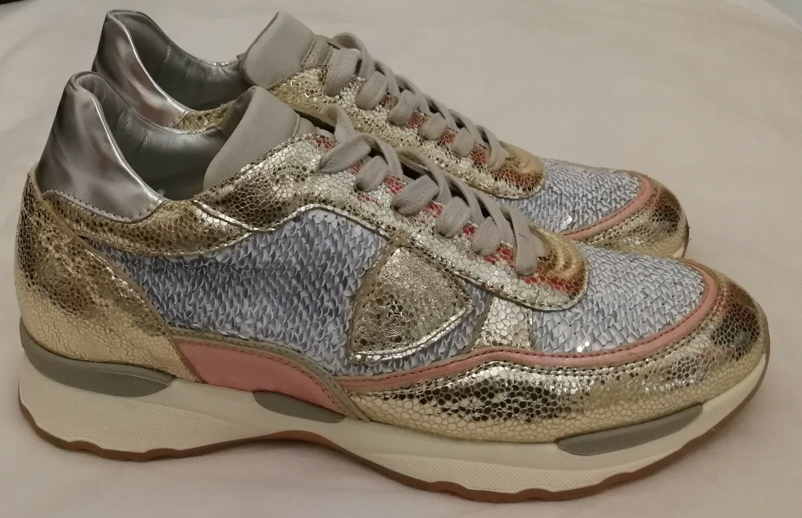 Philippe Model Tropez  Lace-up Sneakers Trainers gold Size uk uk uk 5 eu 38 88c548