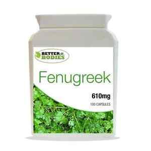 Fenugreek-610mg-SEMI-Estratto-supplemento-salute-100-capsule-bottiglia-meglio-Organismi