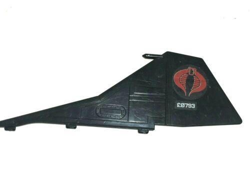 GI Joe 1986 Cobra Night Raven Droit Stabilisateur fin//Aile Accessoire partie Pièce