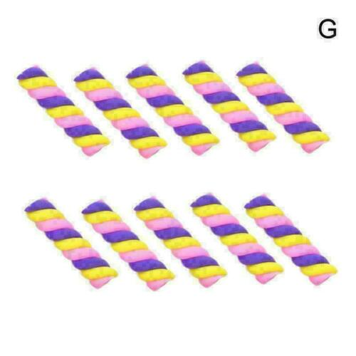 10 Stück DIY Polymer Clay Twisted Marshmallow Candy Cabochons Schmuckzubehö B9E2