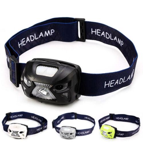 Mini 8 Modes LED Rechargeable USB Induction Fishing Camping Headlight Headlamp