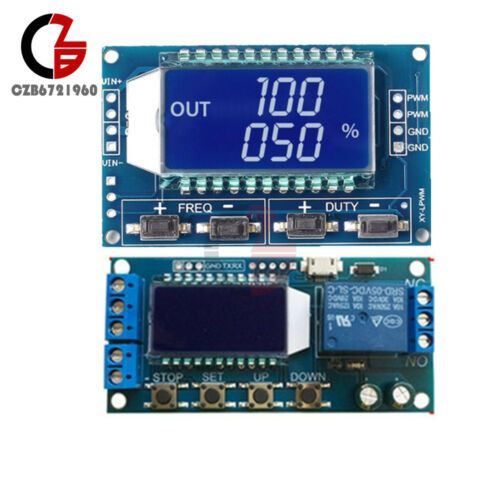 Signal Generator PWM Pulse 5V Time Delay Module Trigger Cycle Timming Switch LCD