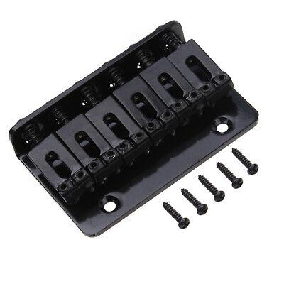 fixed hardtail 6 string bridge top load for electric guitar parts black 65 mm 634458318426 ebay. Black Bedroom Furniture Sets. Home Design Ideas