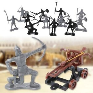 Details about 14Pcs/set Medieval Knights Toy Catapult Crossbow Soldier  Figures Playset Chariot