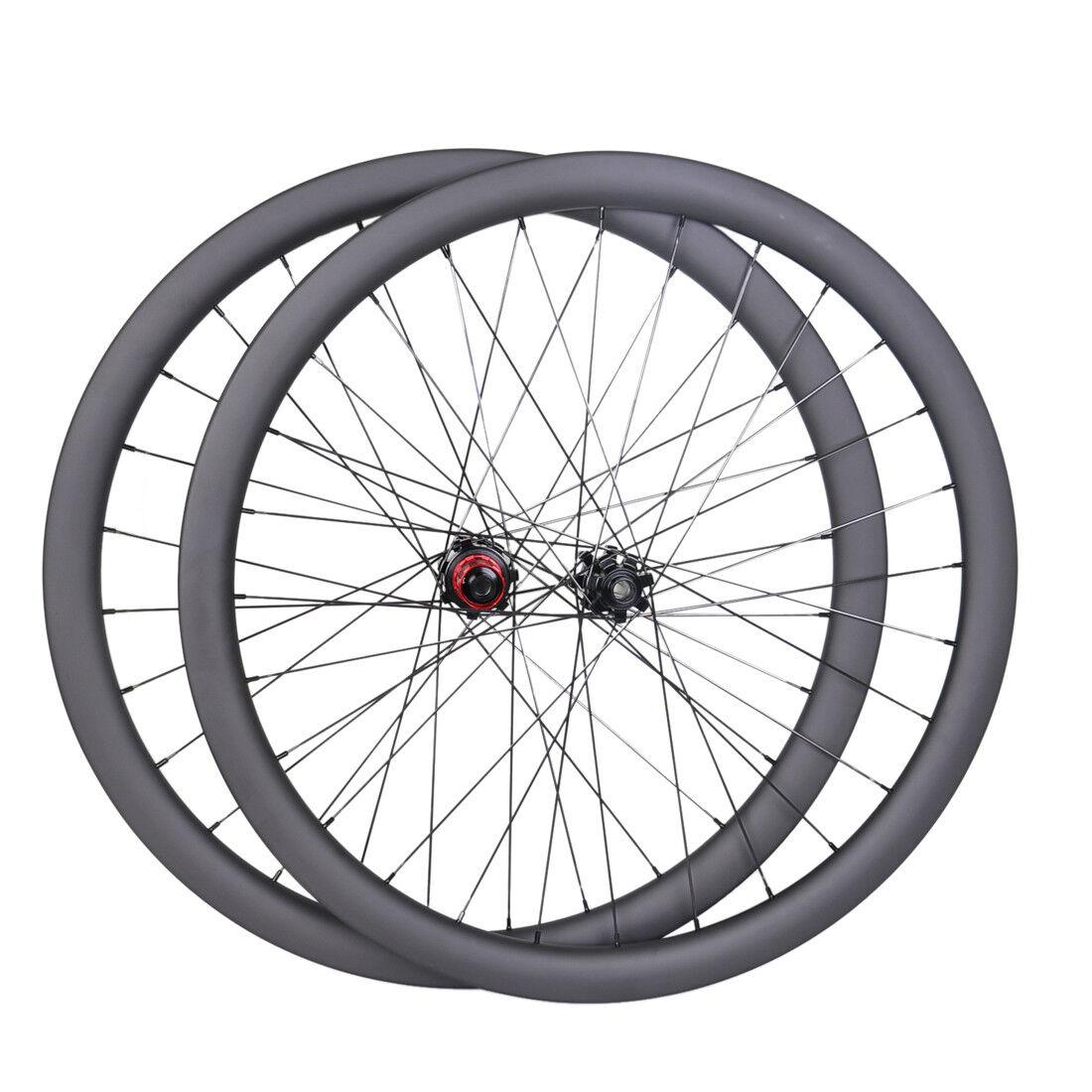 Tubular Sapim 40mm Carbon Wheelset 27mm Road bike 700C Disc Hub Chosen UD Matt