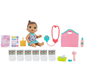 Baby Alive Brunette Make Me Better Baby Doll with lots of extras Gift Set