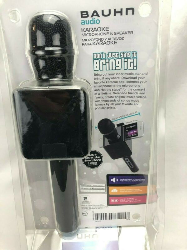 Bauhn Audio Karaoke Microphone & Speaker with Smartphone Holder