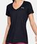 Under-Armour-HeatGear-Womens-UA-Tech-Tee-V-Neck-SS-Tee-1255839-Black-White-Grey thumbnail 4