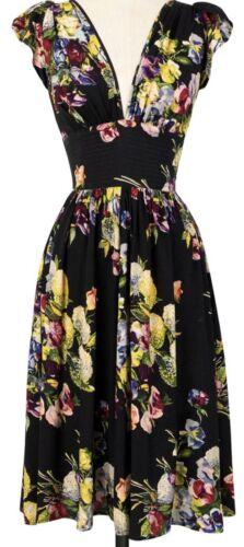 Trashy Diva Martini Floral Marigold Petal Dress S… - image 1