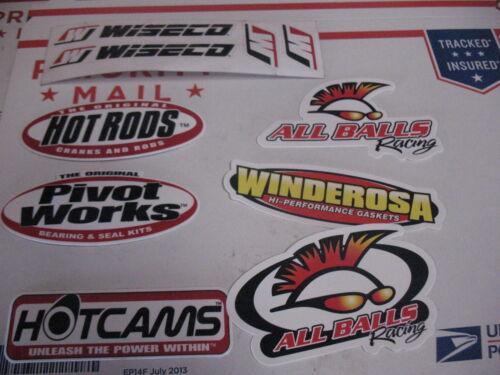 Motorcycle ATV MX Dirtbike Dirt Bike Racing Decal Sticker Set Wiseco hot rods