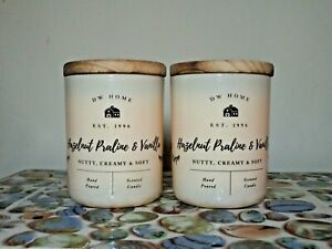 2 DW Home Farmhouse SEA SALT /& THYME Scented Candles Small 3.8 oz.