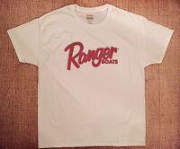 Ranger Boats T-shirt White Medium W/free Sticker Decal You Get 2 Bass Boat