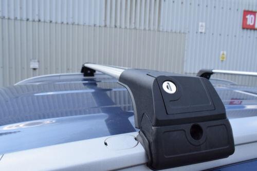 LOCKABLE ALUMINIUM CROSS BAR RACK 75 KG LOADING GREY SEAT IBIZA ESTATE 2010