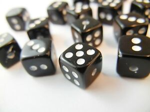 Details about >650pc 500g Large Acrylic Black & White Resin Dice Numbers  Cube Beads BULK