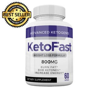 ☀ KETOFAST WEIGHT LOSS FORMULA 60 CAPS KETO FAST BHB Keto Fast 800MG Keto Pills