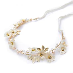 La imagen se está cargando Cinta-Floral-Cadena-Comunion-Boda-Cinta-Pelo- Tiara- 09cf2147fba3