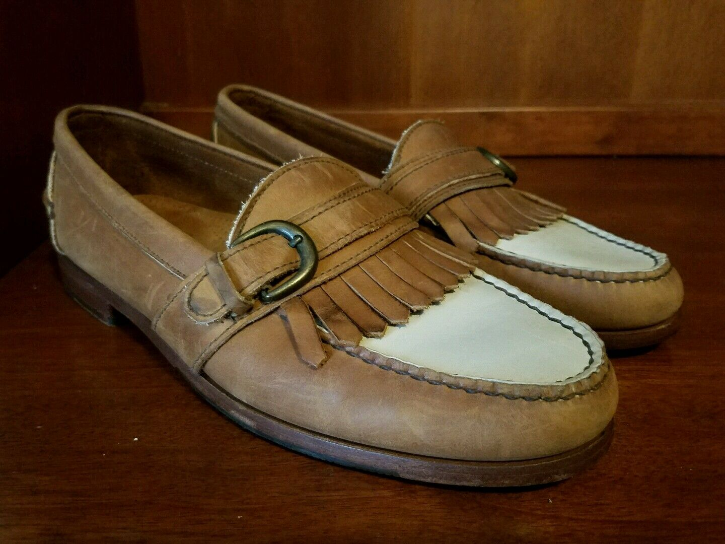 Men Cole Haan Country Hand-sewn Memory Flex Leather Casual shoes Size 9.5 M USA