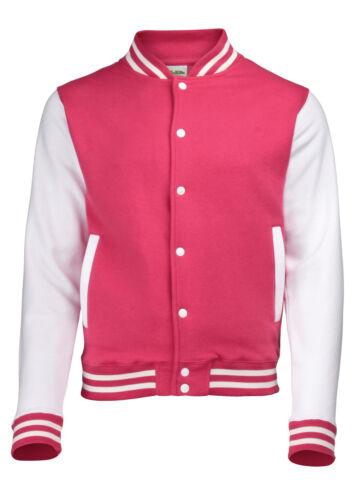 Awdis Varsity Men Women Pullover Jacket College Baseball Letterman All Sizes