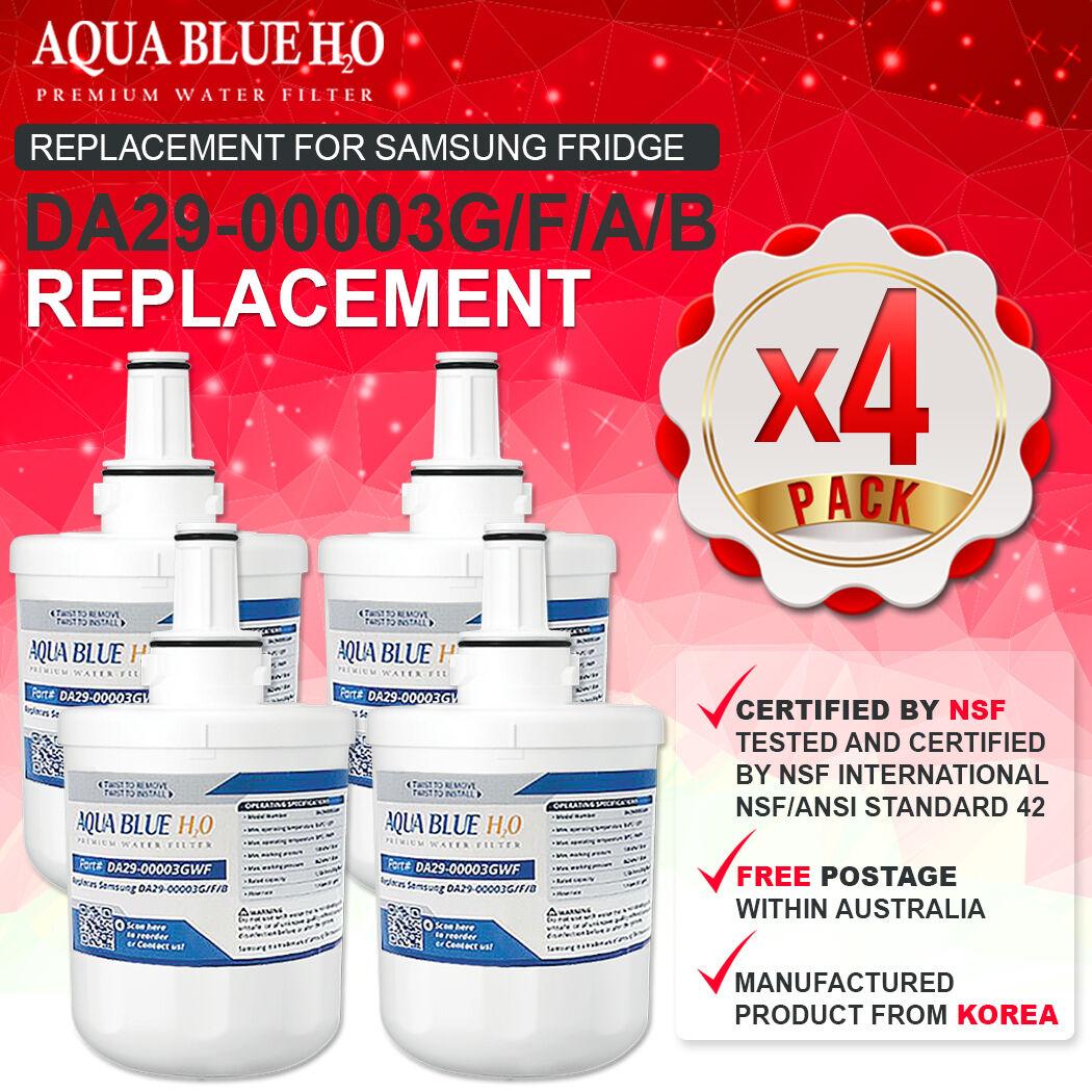 4x Samsung Aqua-Pure DA29-00003G Plus Compatible Water Filters for Fridges