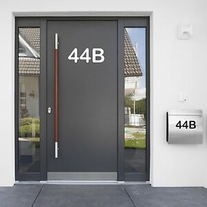 Details zu Selbstklebende Zahlen 25cm Hausnummer Briefkasten Hotelzimmer  Startnummer Ziffer