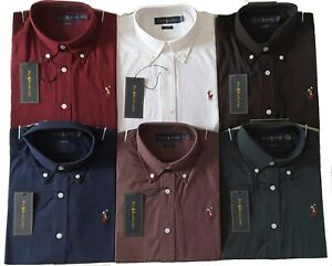 Polo-Ralph-Lauren-Oxford-Pima-Shirt-a-Manches-Longues-Slim-Fit-2020-collection-NEUF