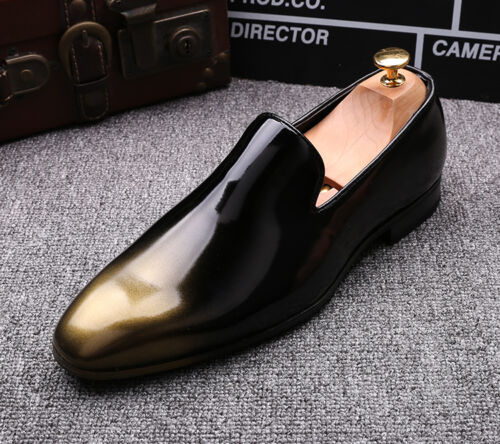 Men/'s Dress Patent Leather Slip on Pieced Casual Nightclub British Comfy Shoes